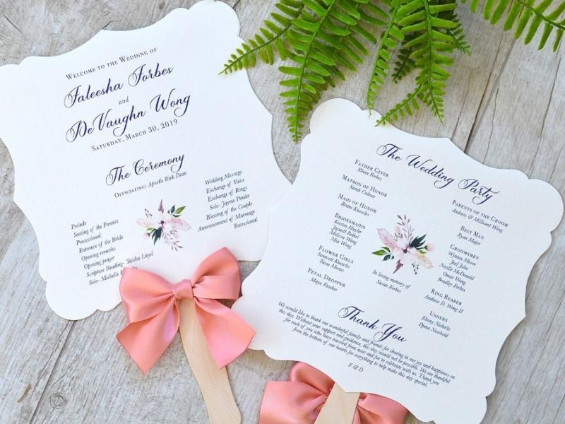 Modern Seaside Printable Wedding Program  Wedding Program Custom Order of Ceremony