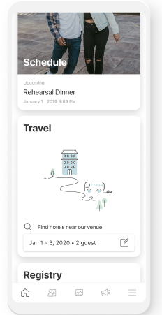 destination wedding website app