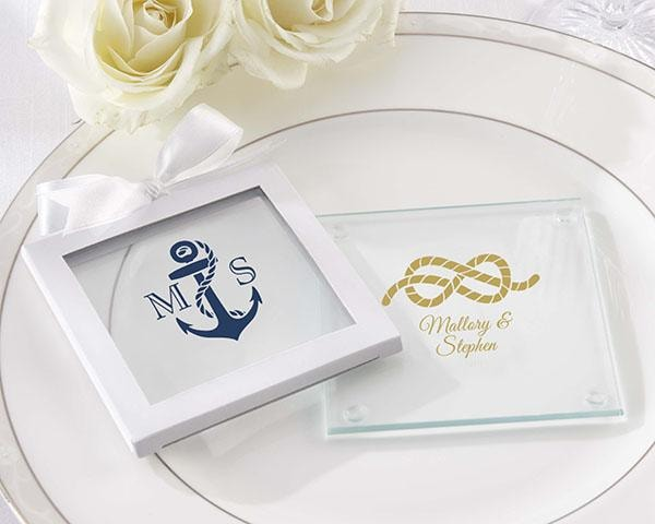 destination wedding welcome bag favors Nautical coaster