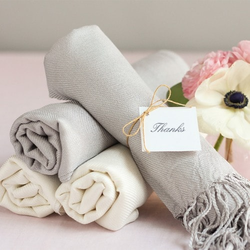 destination wedding welcome bag pashmina shawls