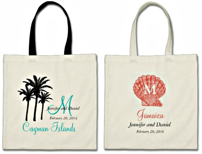destination wedding welcome bags favors