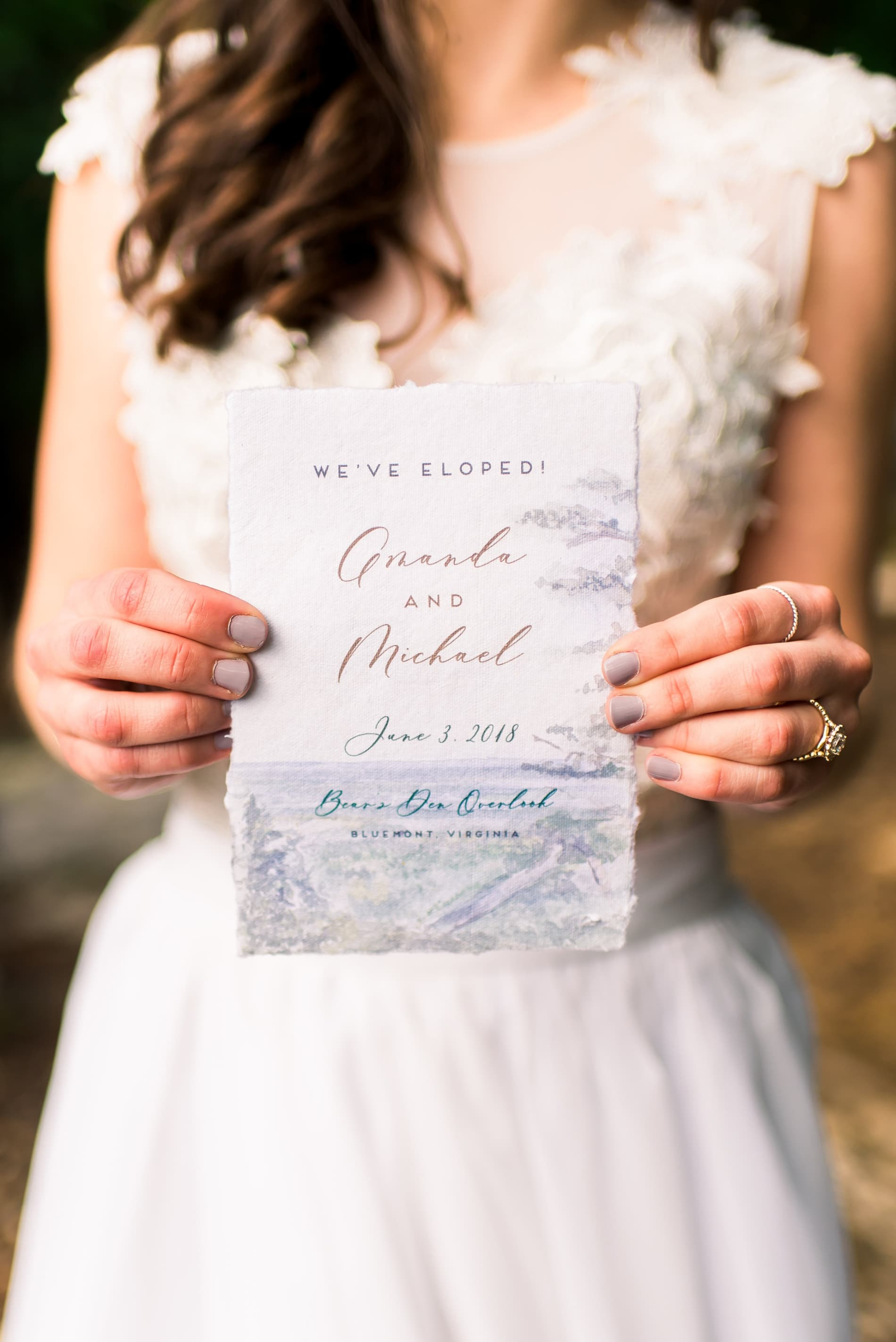 destination wedding with no guests elopement invitation
