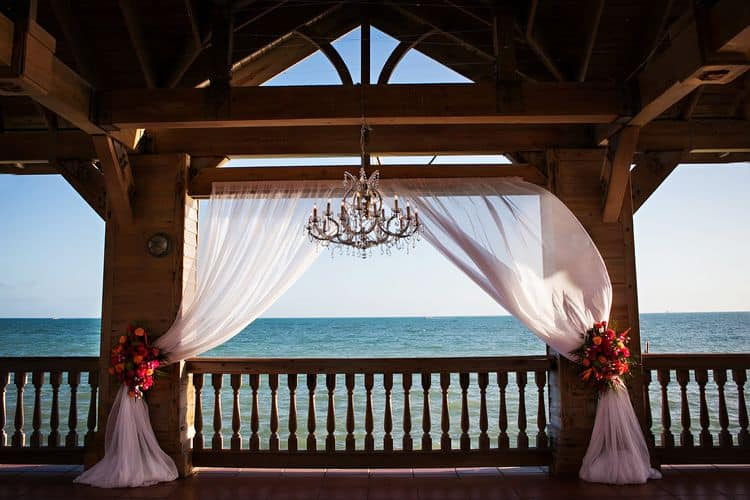 Tropical destination wedding in Key west