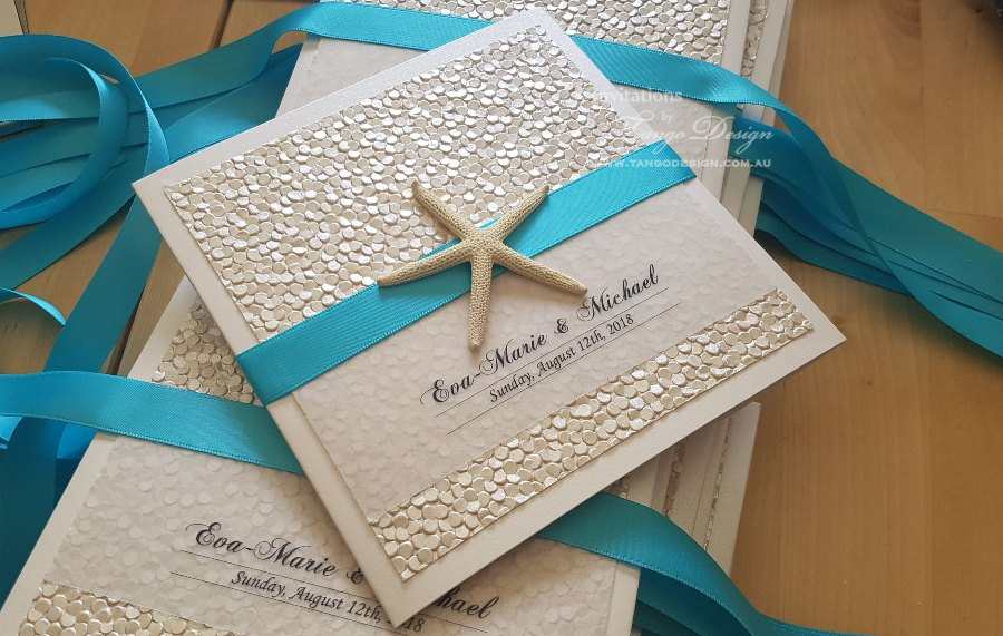 elegant beach theme wedding invitations 1