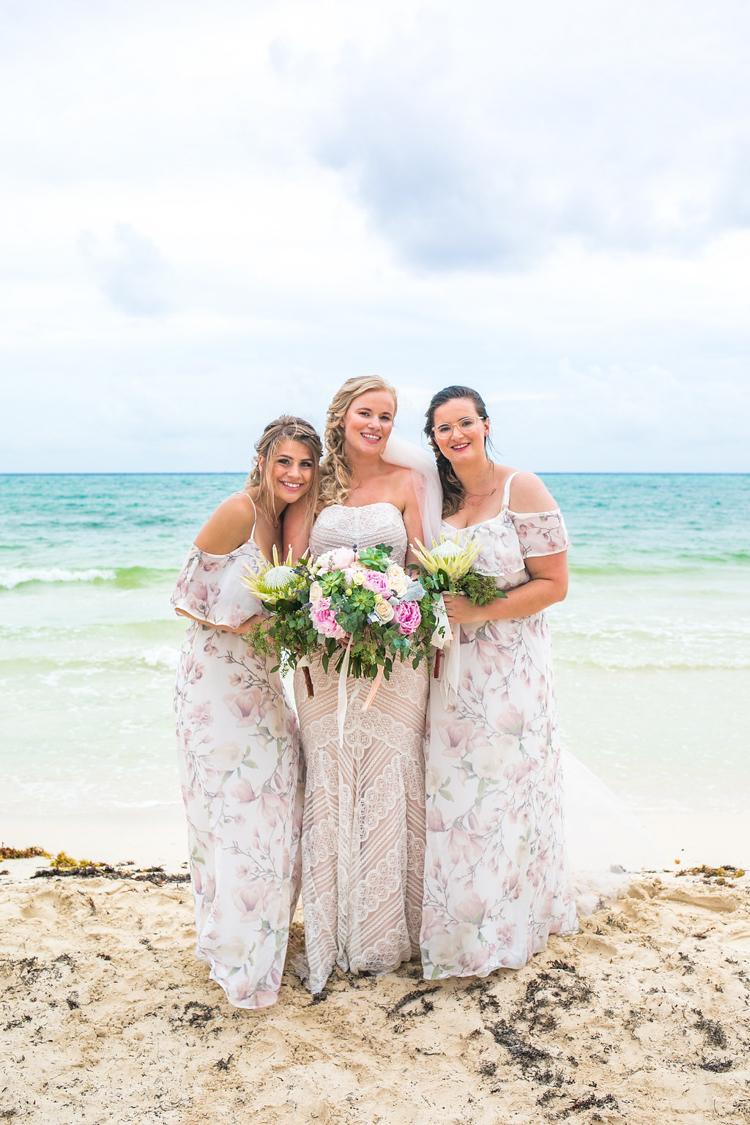 floral beach bridesmaid dress