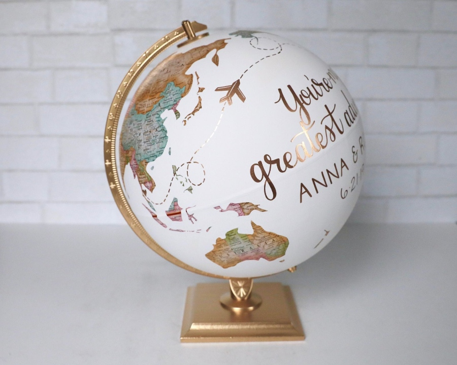 globe destination wedding guest book alternative 5