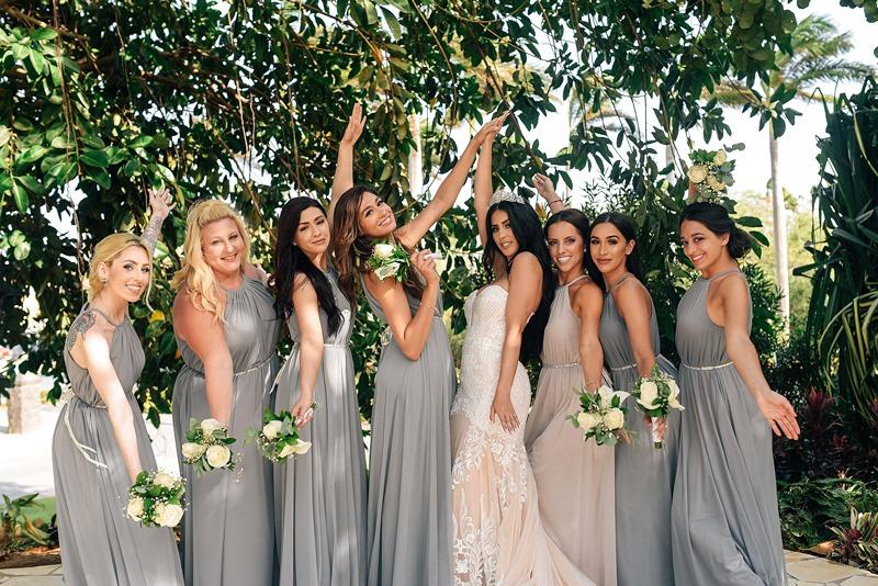 gray beach bridesmaid dresses