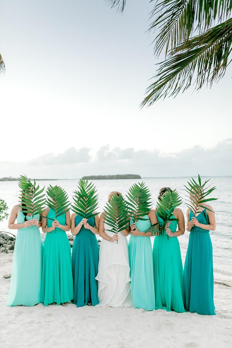 green beach bridesmaid dresses