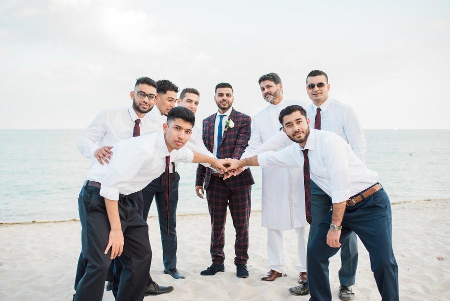grooms beach wedding attire