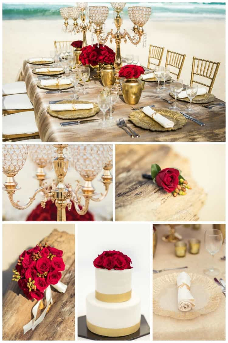 hard rock wedding golden radiance red