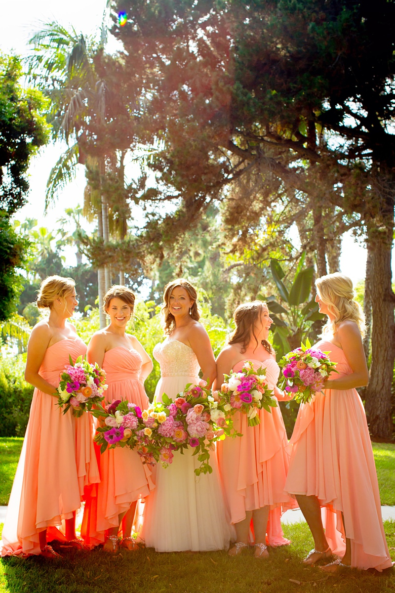 high low bridesmaid dresses