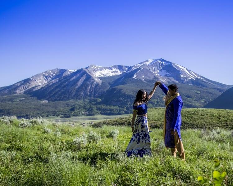 indian wedding in colorado mountains 106