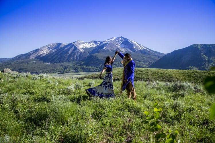 indian wedding in colorado mountains 107