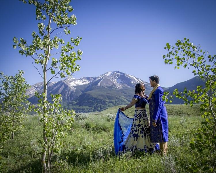 indian wedding in colorado mountains 108