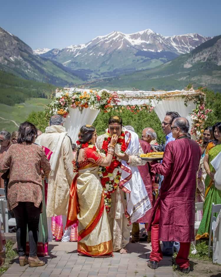 indian wedding in colorado mountains 12
