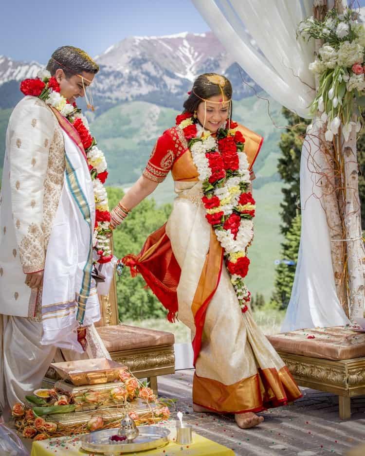 indian wedding in colorado mountains 14