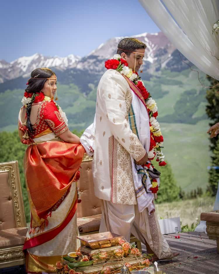 indian wedding in colorado mountains 15