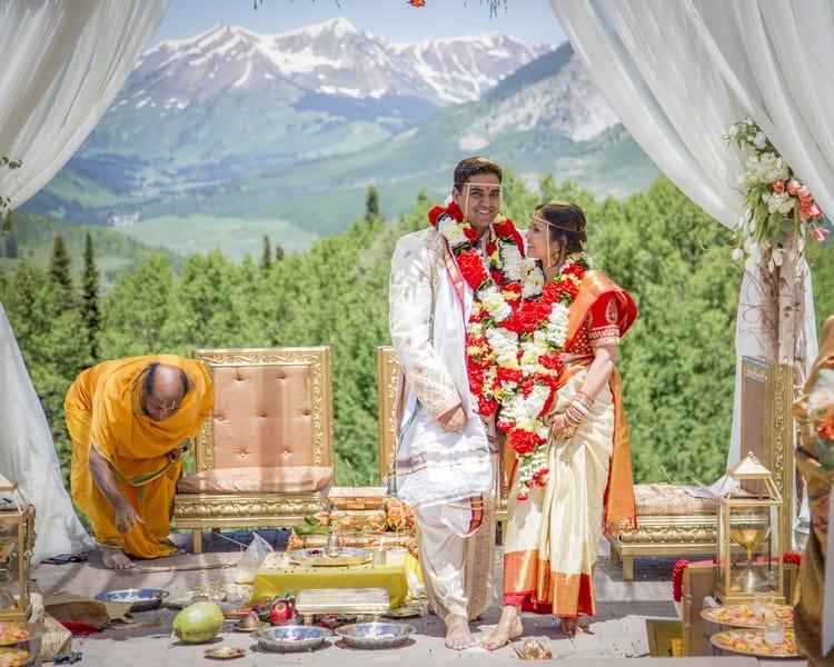 indian wedding in colorado mountains 16