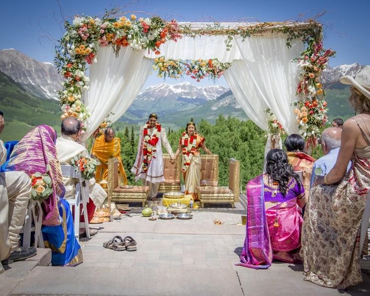indian wedding in colorado mountains 17