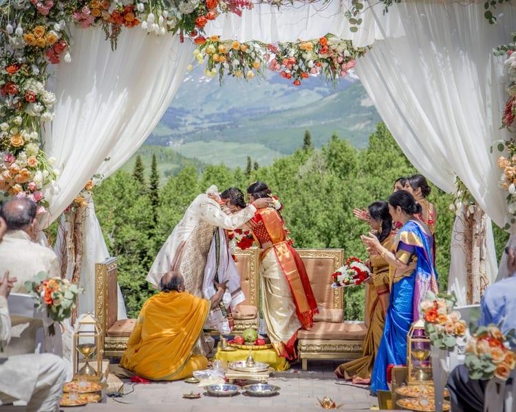 indian wedding in colorado mountains 18