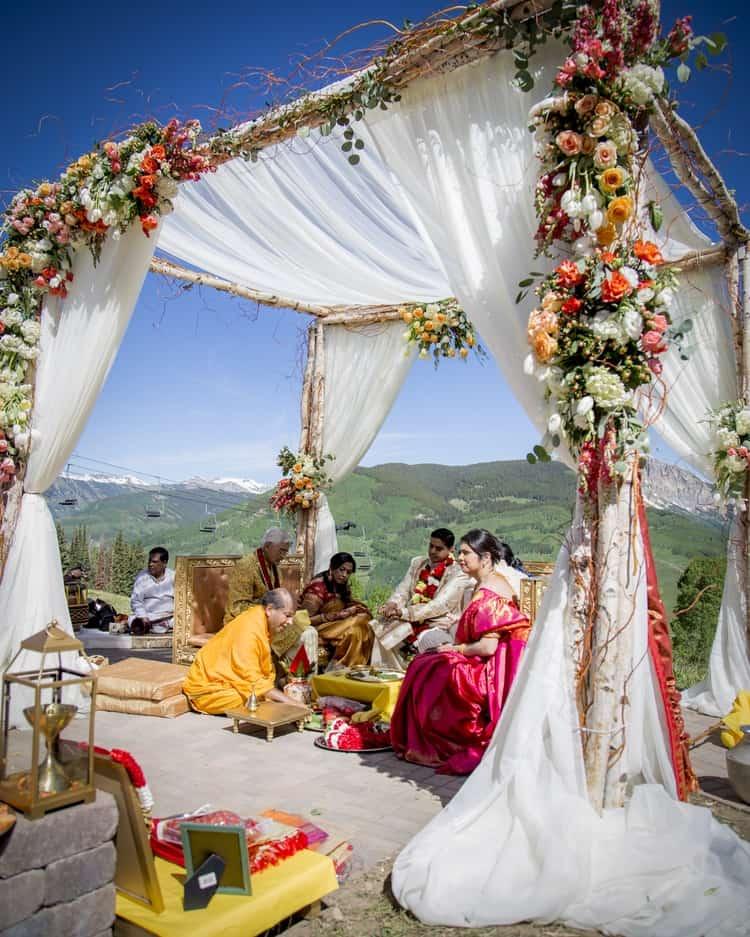indian wedding in colorado mountains 32