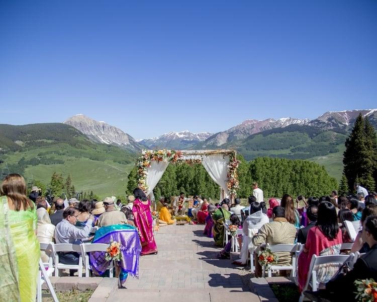 indian wedding in colorado mountains 34