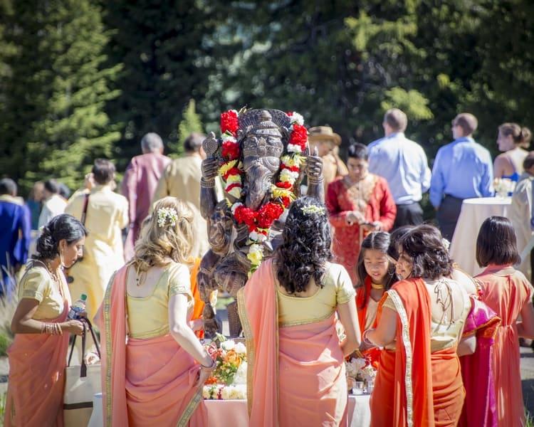 indian wedding in colorado mountains 36