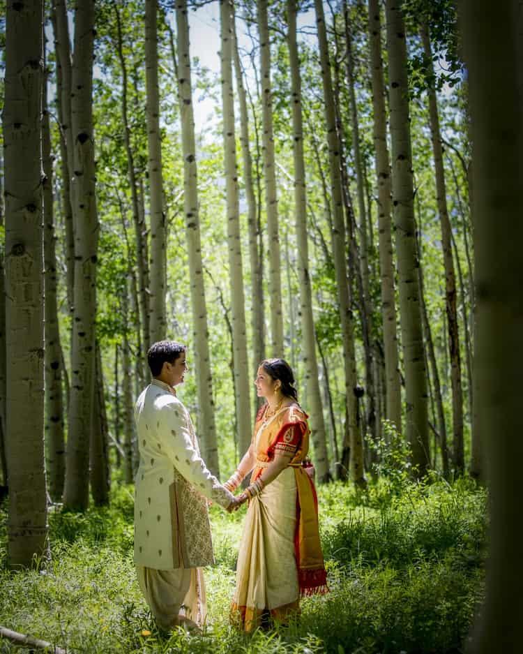 indian wedding in colorado mountains 4