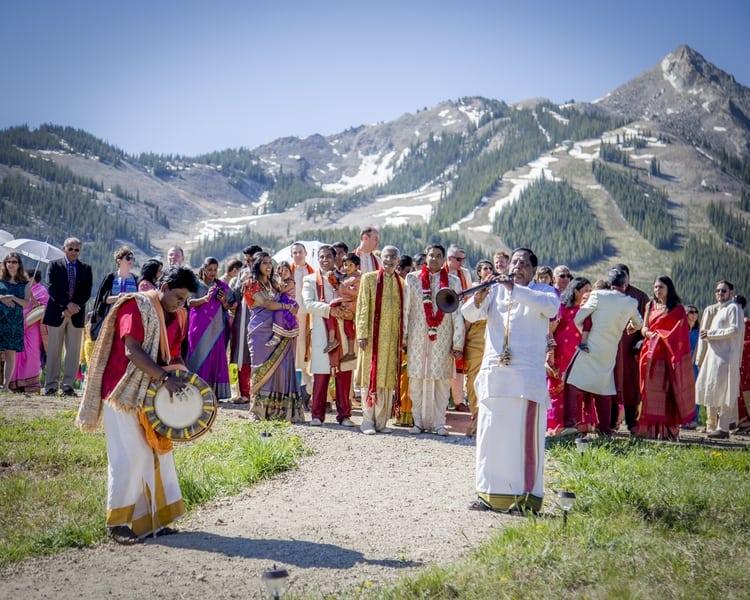 indian wedding in colorado mountains 45