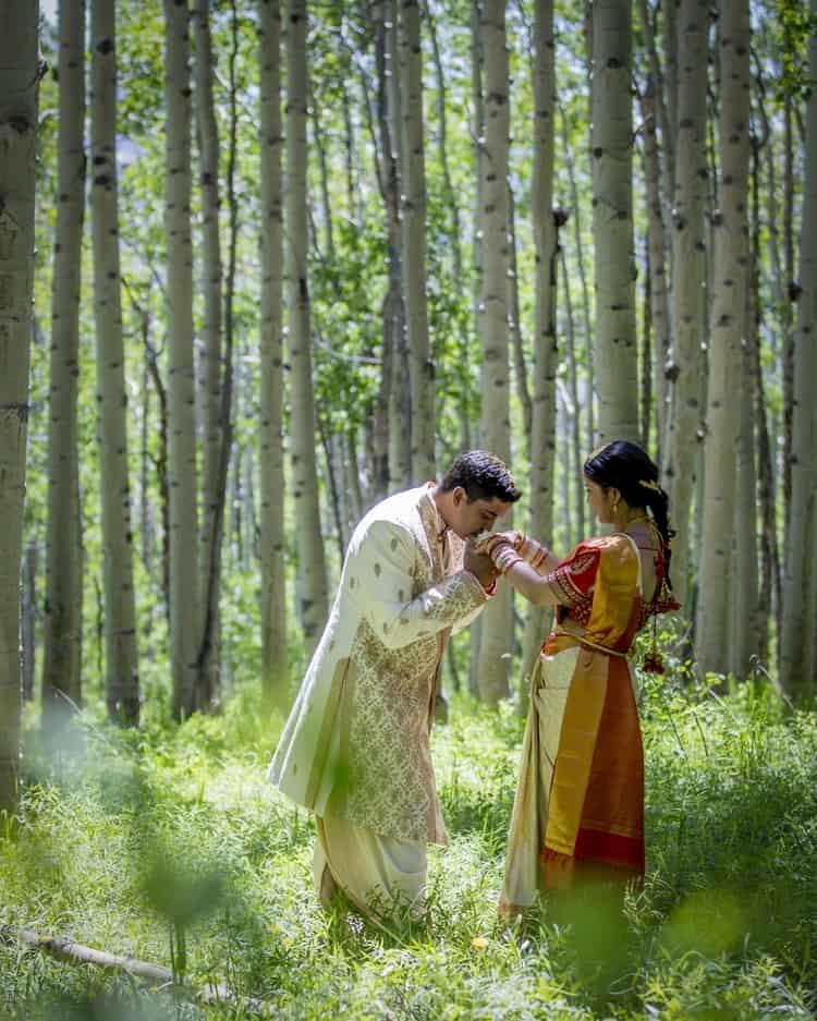 indian wedding in colorado mountains 5