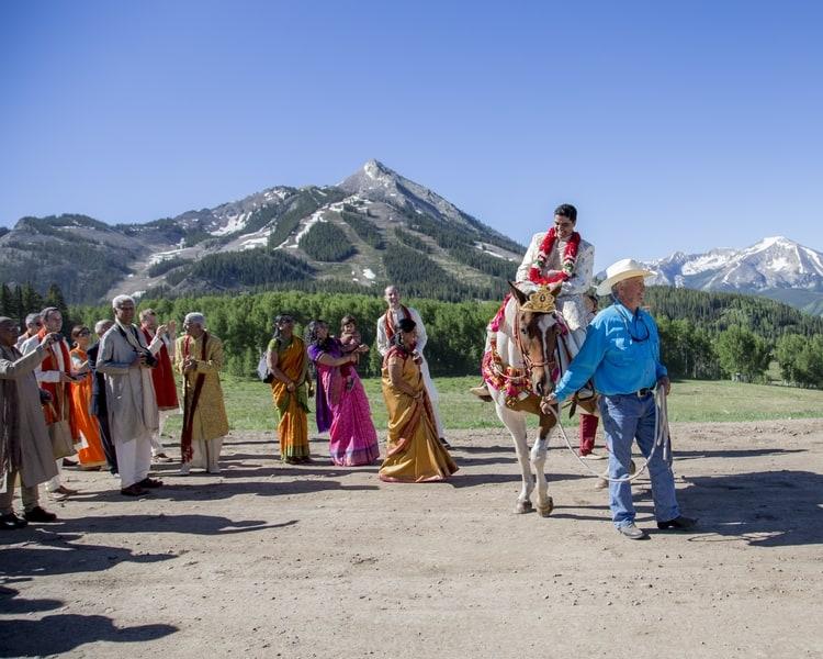 indian wedding in colorado mountains 63