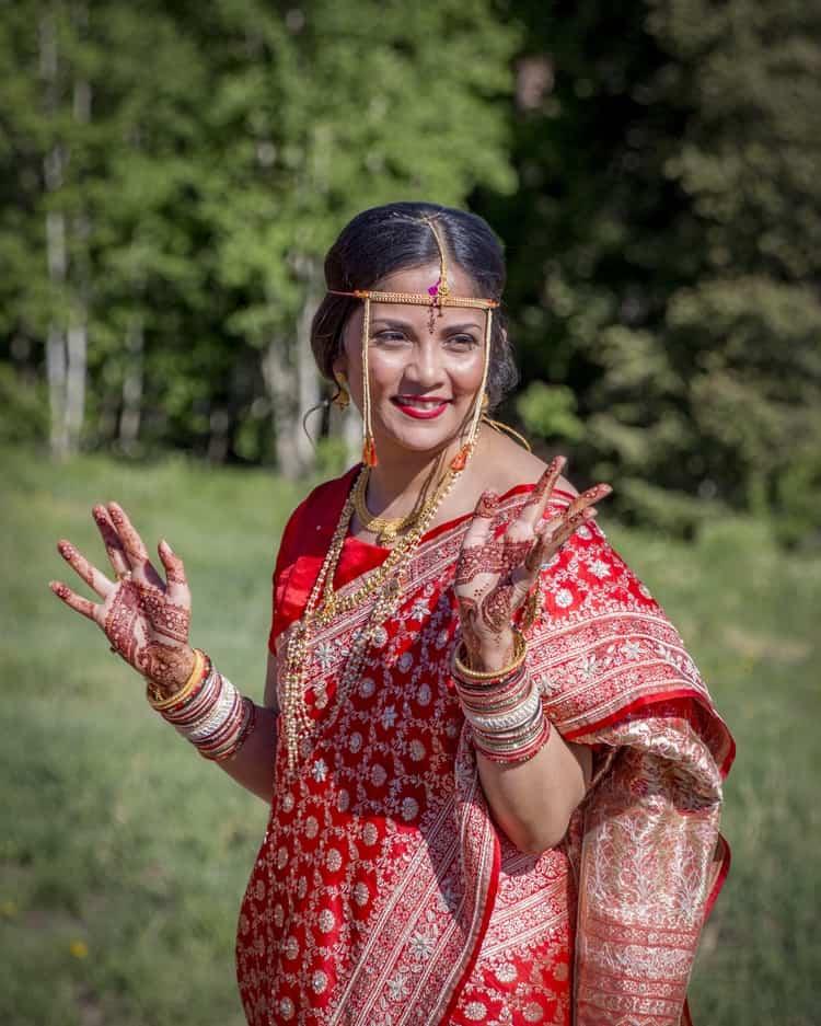 indian wedding in colorado mountains 69