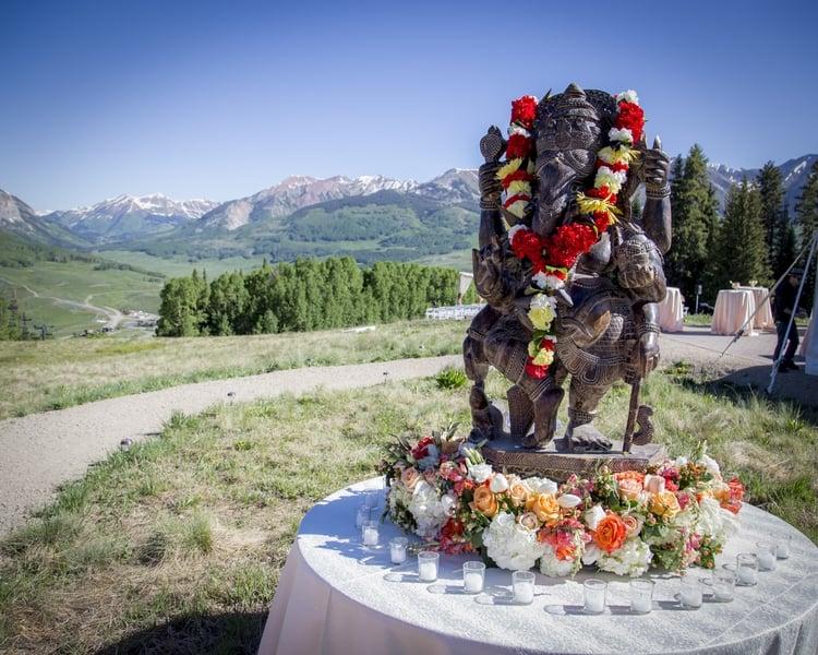 indian wedding in colorado mountains 73