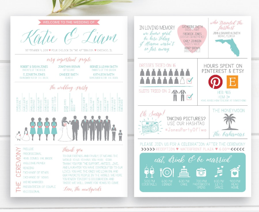 9 Creative Destination Wedding Program Ideas - Destination