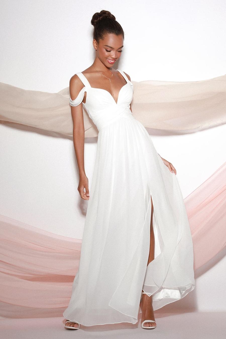 informal beach wedding dress maxi