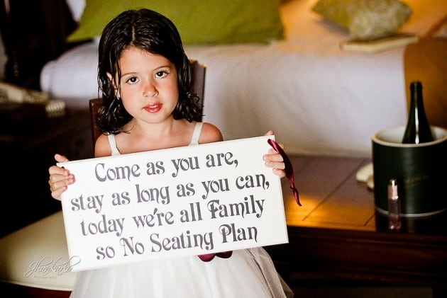 destination wedding seating sign