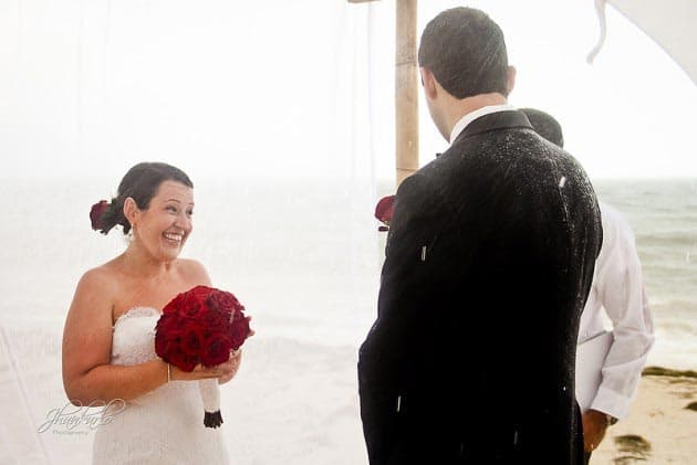 destination wedding in riviera maya rain