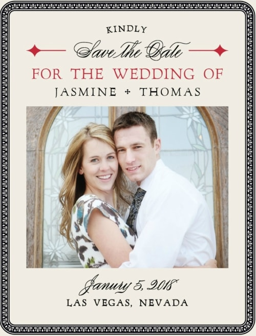 las vegas destination wedding save the date