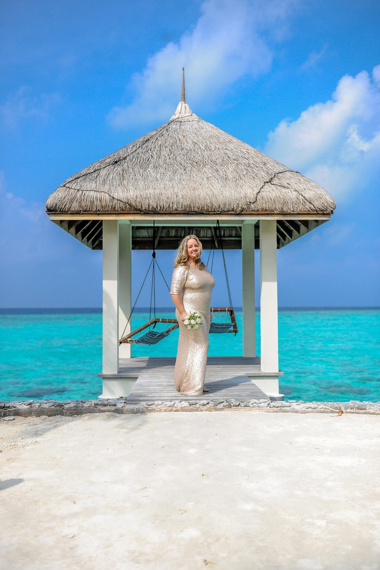 maldives wedding vow renewal 146