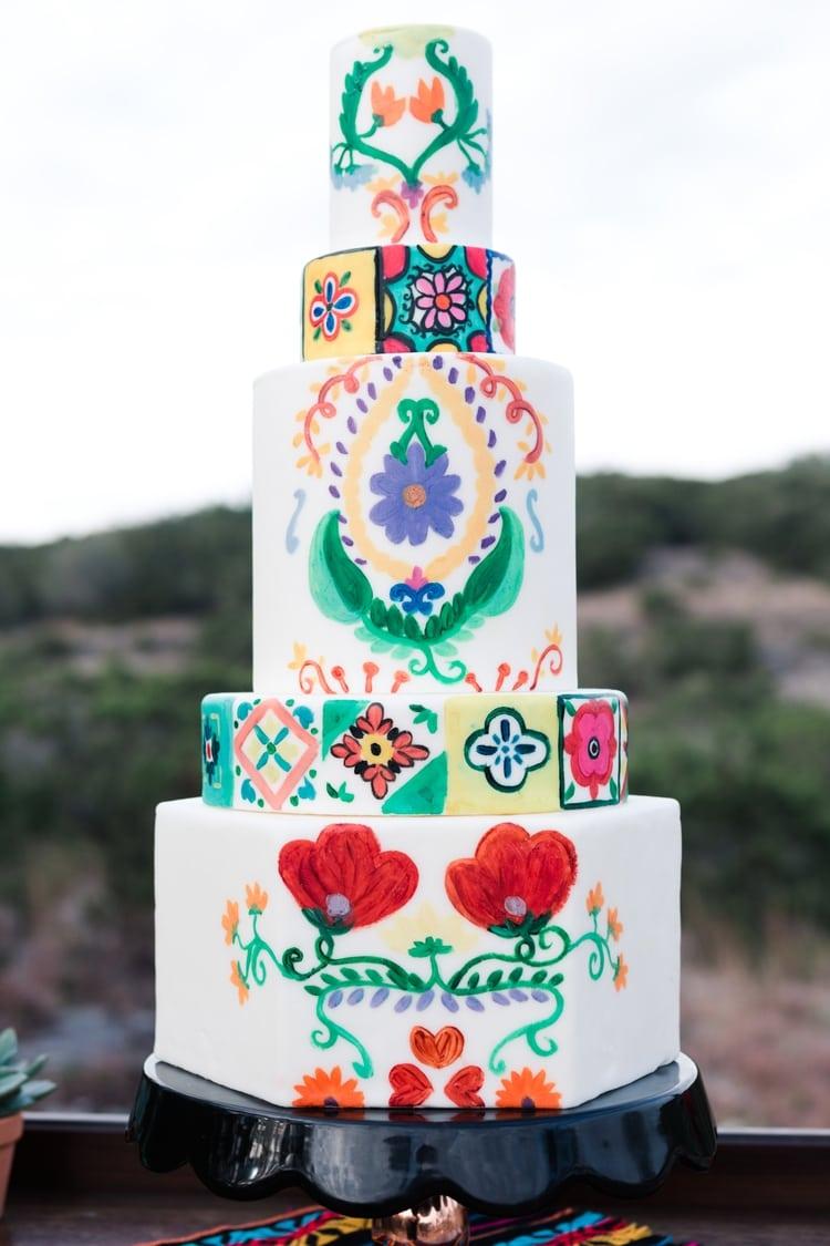 mexican destination wedding cake idea