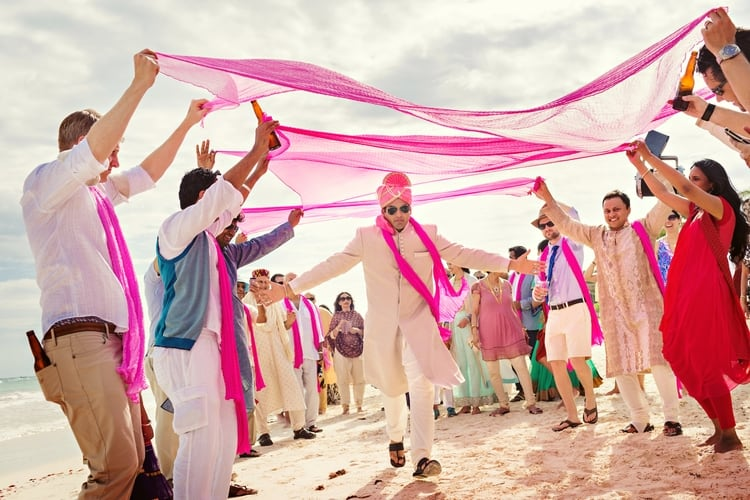 multi cultural beach wedding 108