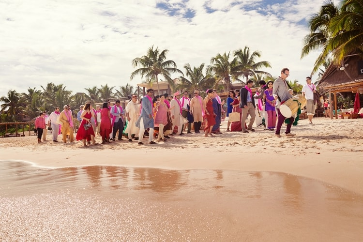 multi cultural beach wedding 109