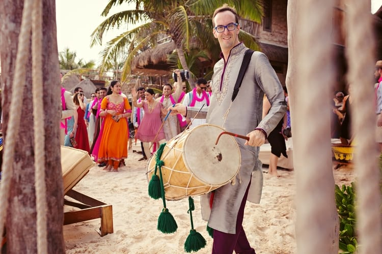 multi cultural beach wedding 110