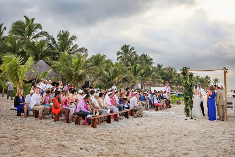 multi cultural beach wedding 31