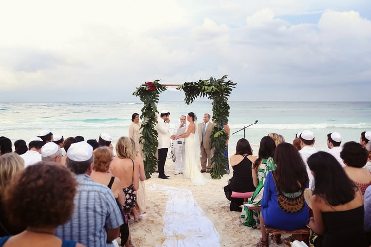 multi cultural beach wedding 32