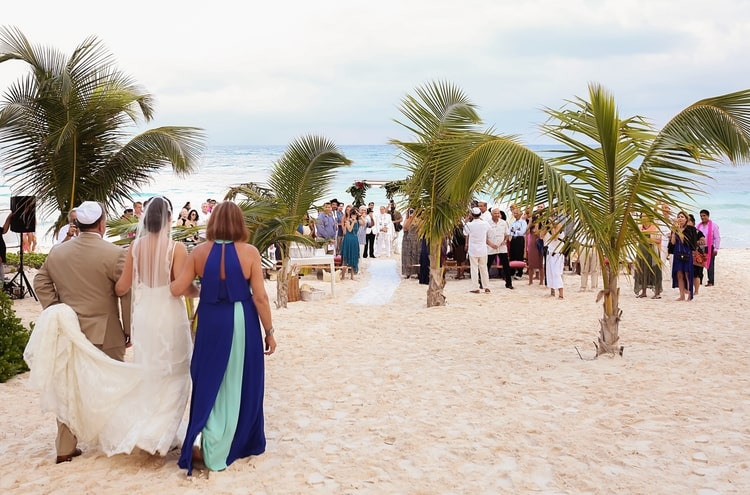 multi cultural beach wedding 37