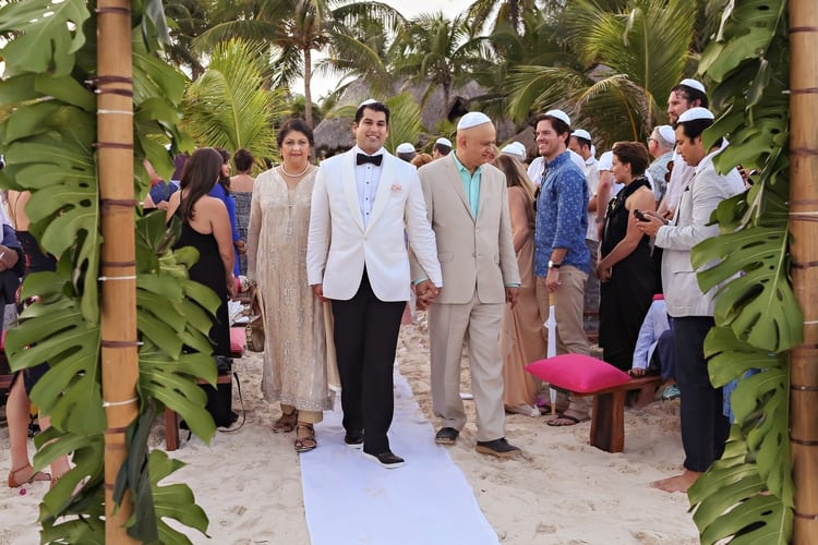 multi cultural beach wedding 38