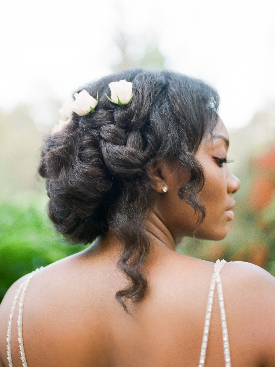 natural beach wedding hair 1