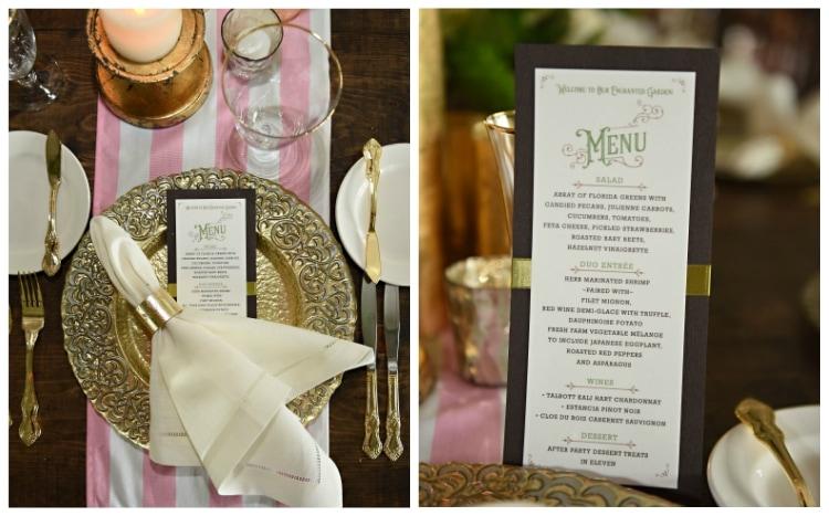 orlando wedding venue menu