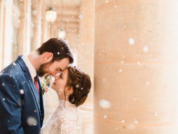 Romantic Snowy Elopement in Paris